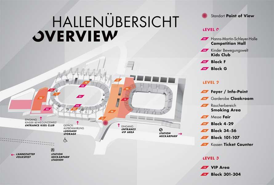 Hallenplan Überblick