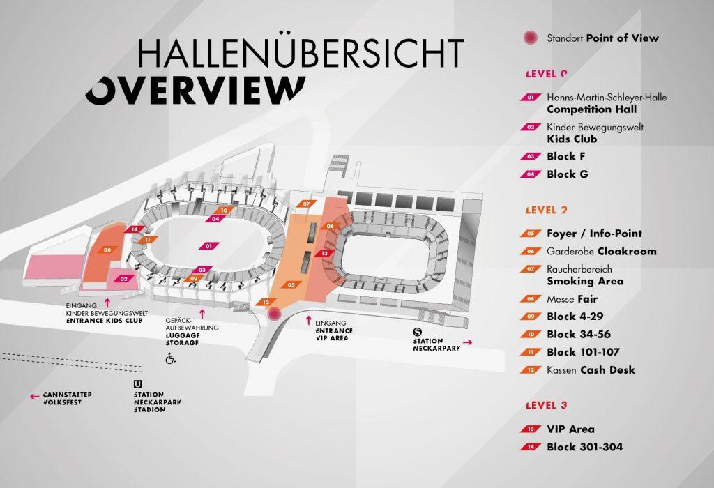 Hallenübersicht Hanns-Martin-Schleyer-Halle, Poersche Arena